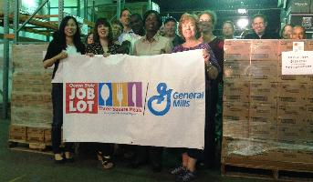 CT Food Bank Employees Thank Job Lot and General Mills