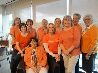QU Nursing Students wear orange